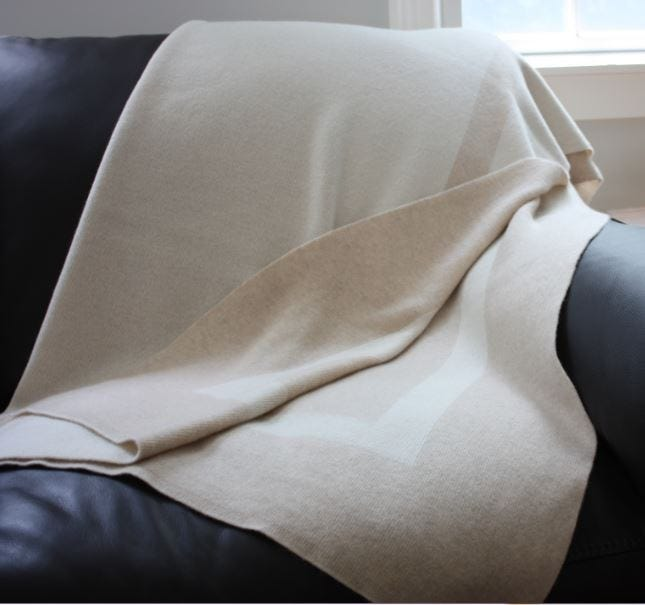100% Cashmere Homestead Knit Throw