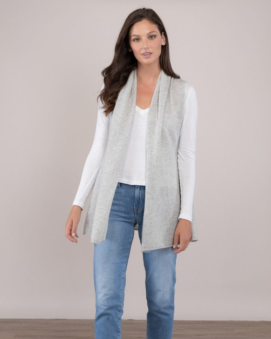 100% Cashmere Sleeveless Mini Duster