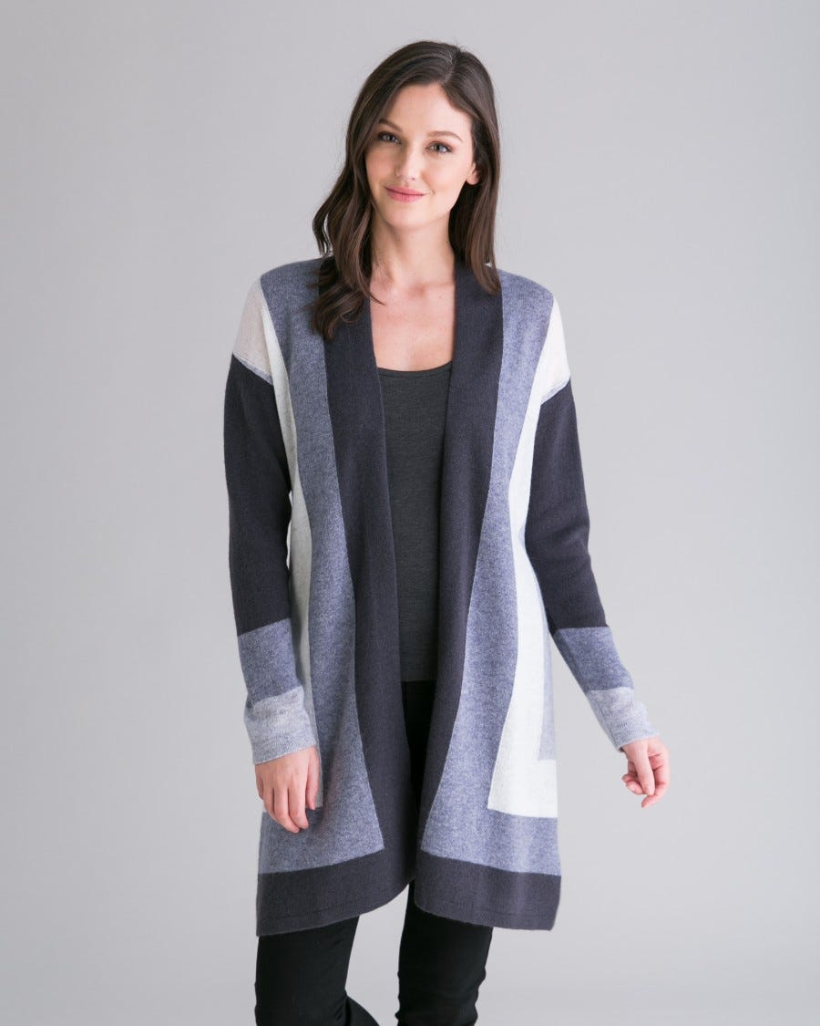 Cashmere Mitered Graphic Duster