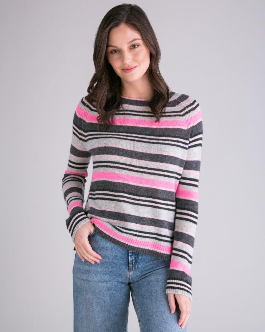 Cashmere Campus Stripe Pullover