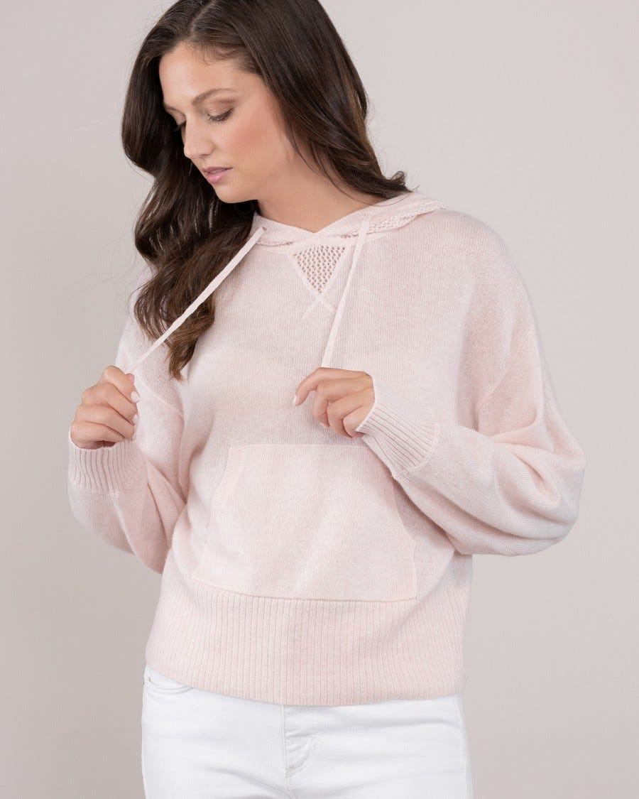 Cashmere Lizzy Cropped Hoodie