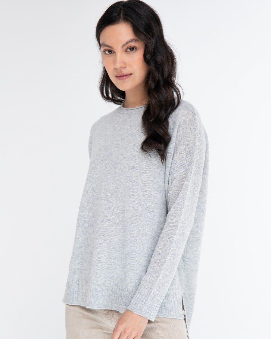 Cashmere Easy Rib Trim Pullover