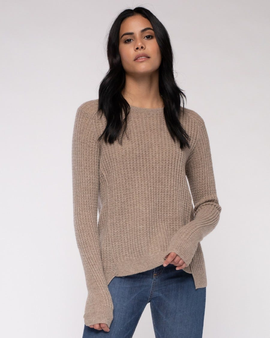 Cashmere Cuddled Up Thermal Pullover