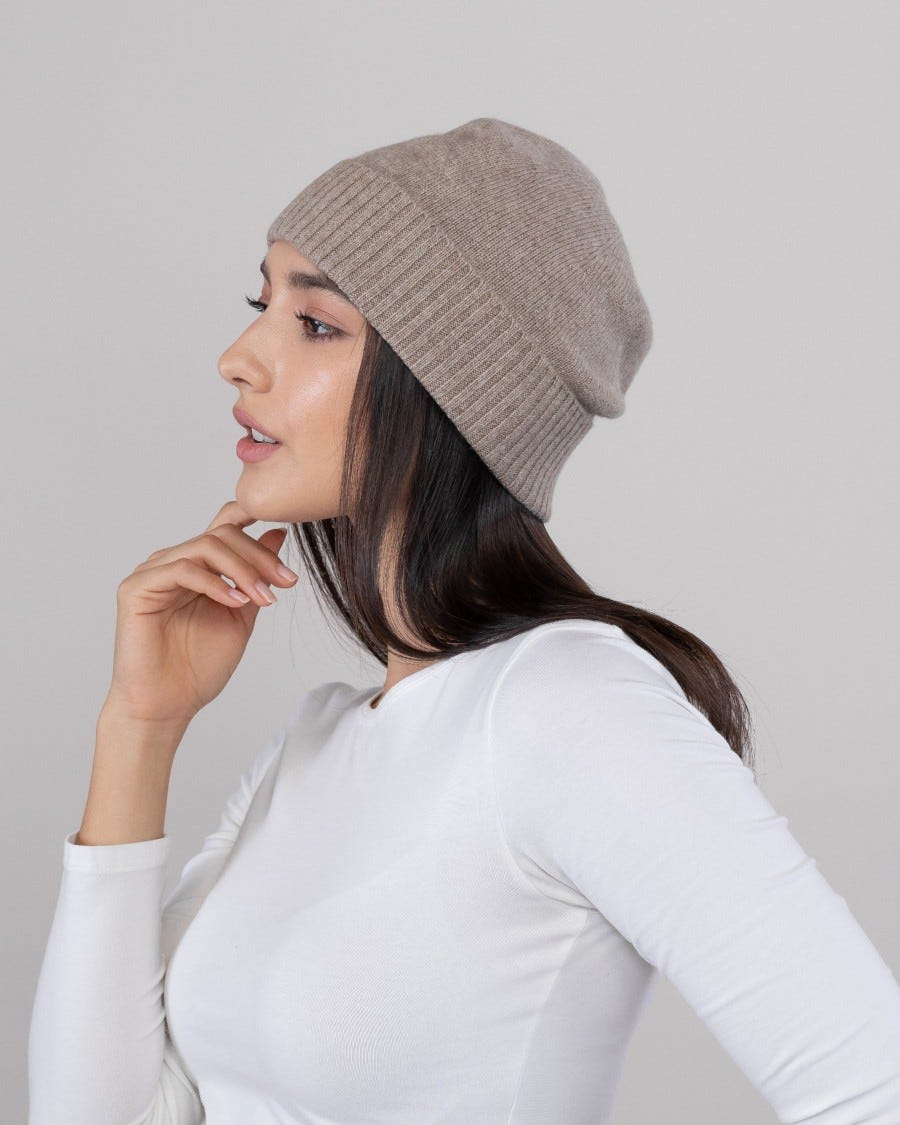 100% Cashmere Essential Hat