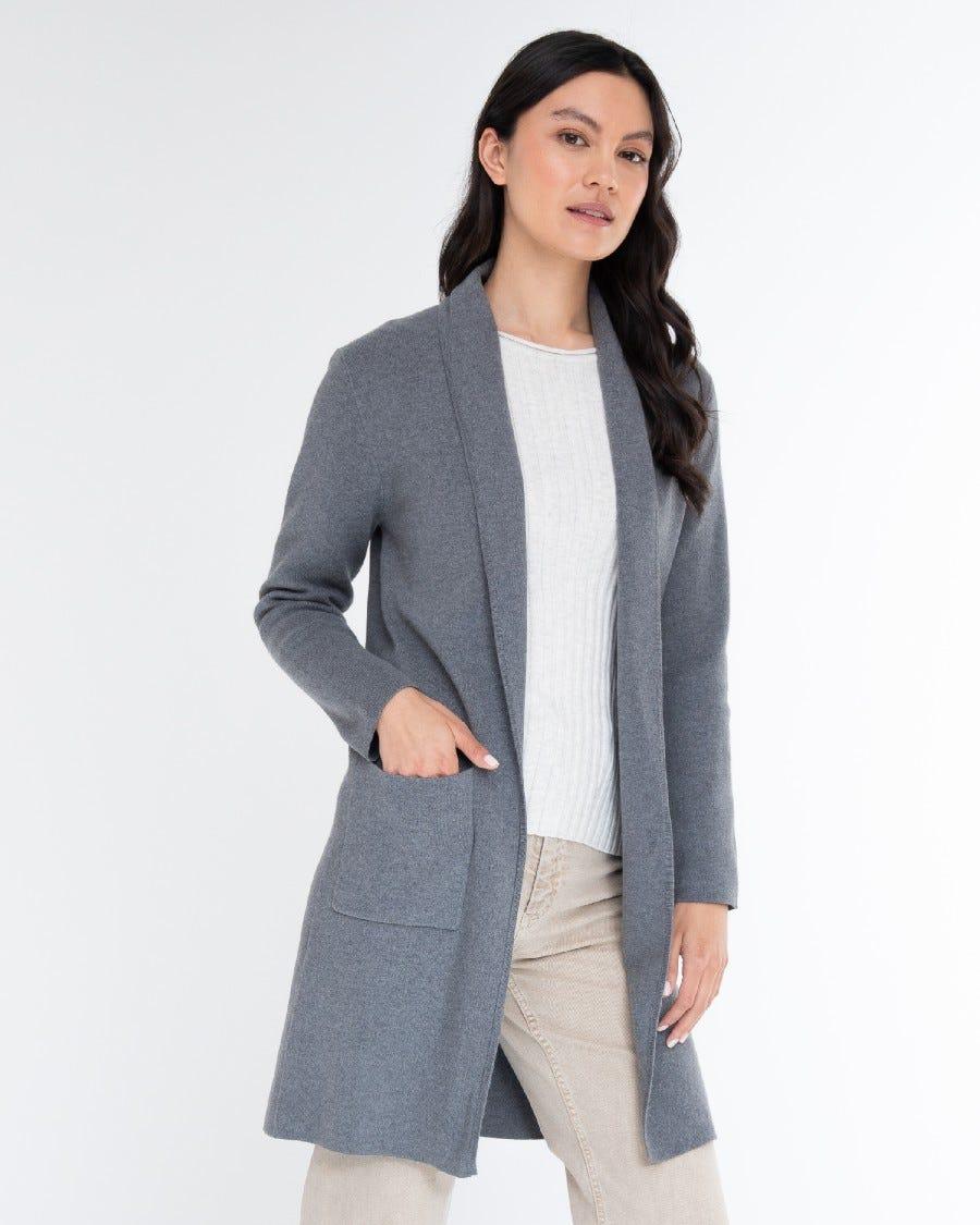 Cotton Cashmere Sarah Shawl Collar Jacket