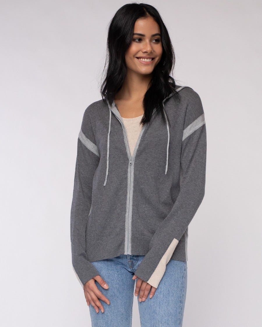 Cotton Cashmere Weekend Vibe Zip Hoodie