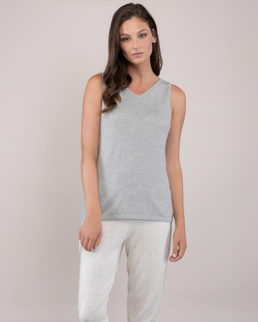 Cotton Cashmere 2-Way Tank Top