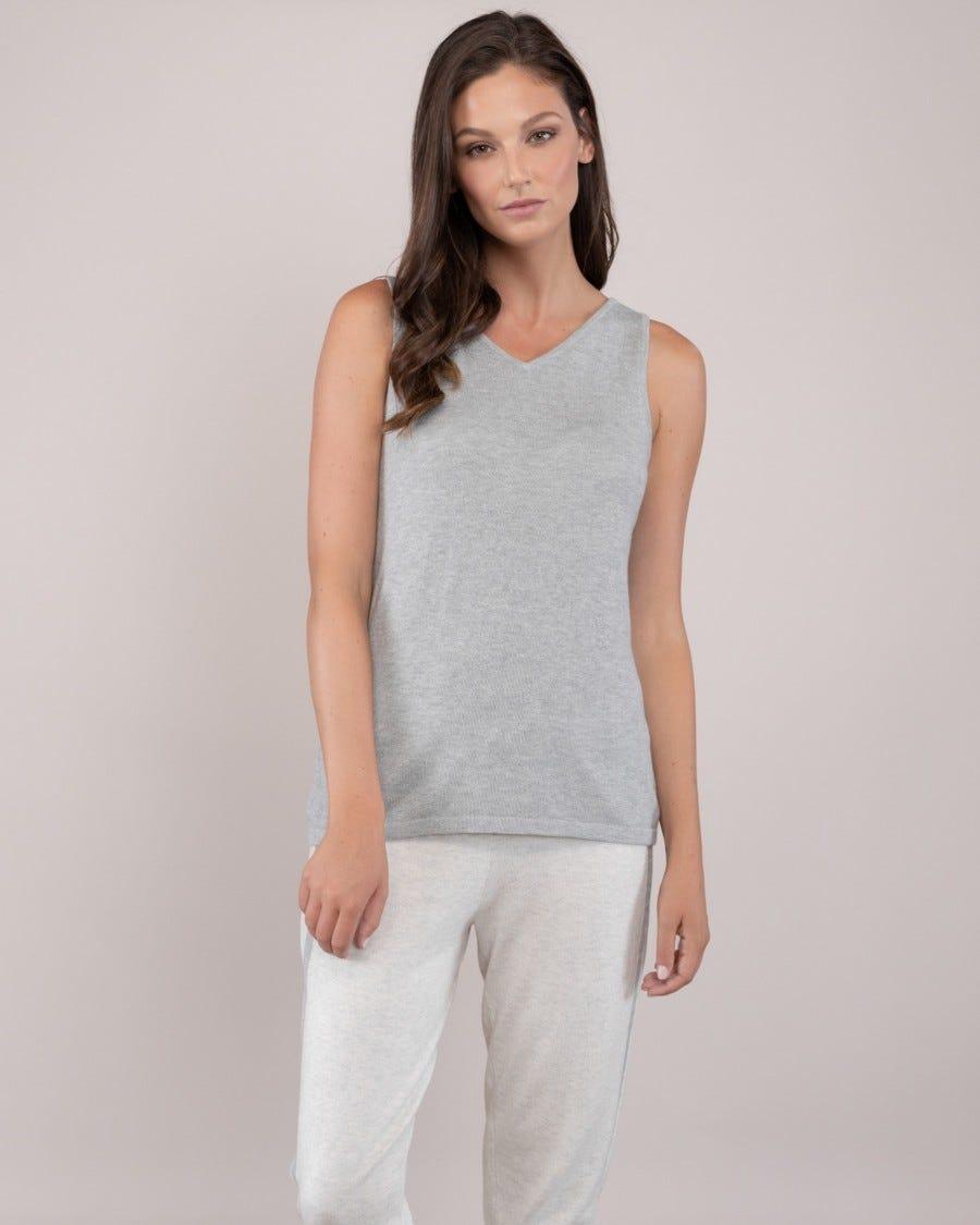 Cotton Cashmere 2-Way Tank Top