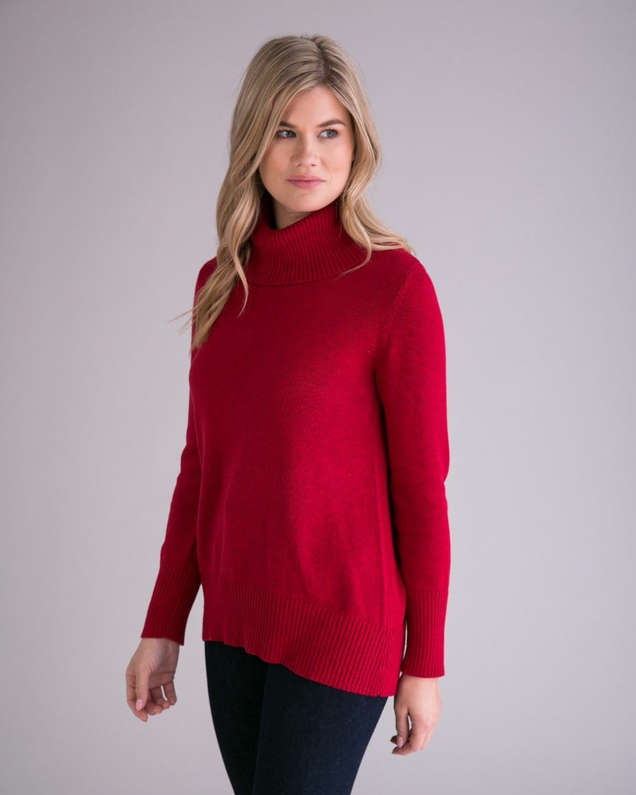 Cotton Cashmere Four Seasons Turtleneck