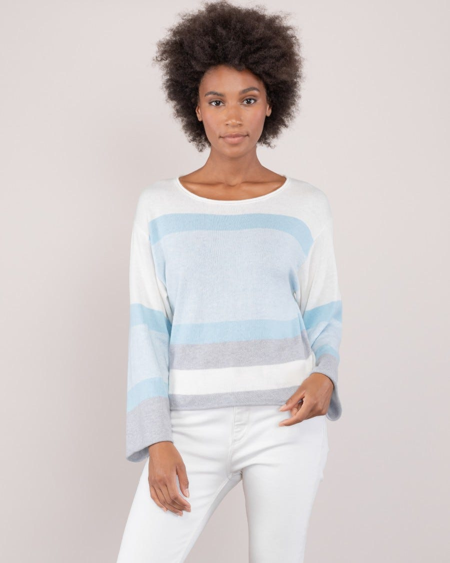 Cotton Cashmere Hideaway Cropped Pullover
