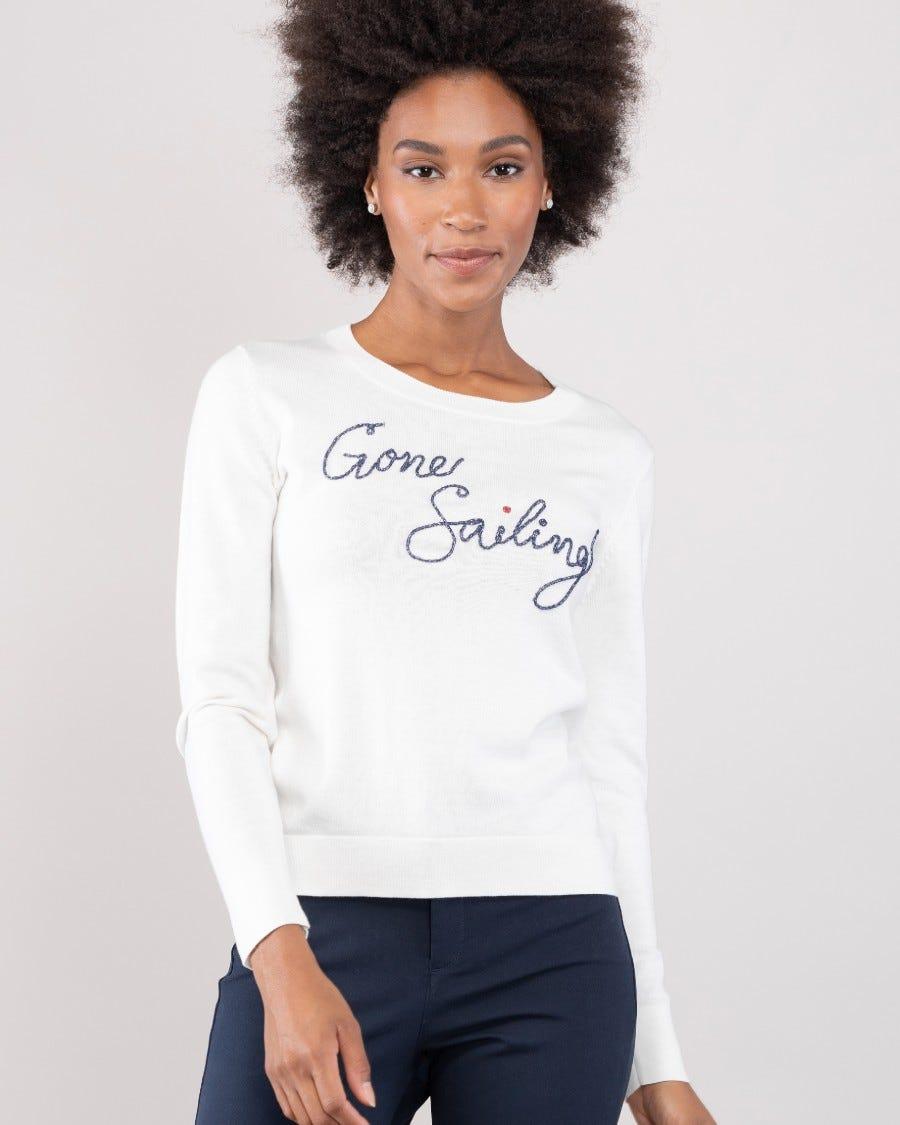 Cotton Cashmere Gone Sailing Pullover