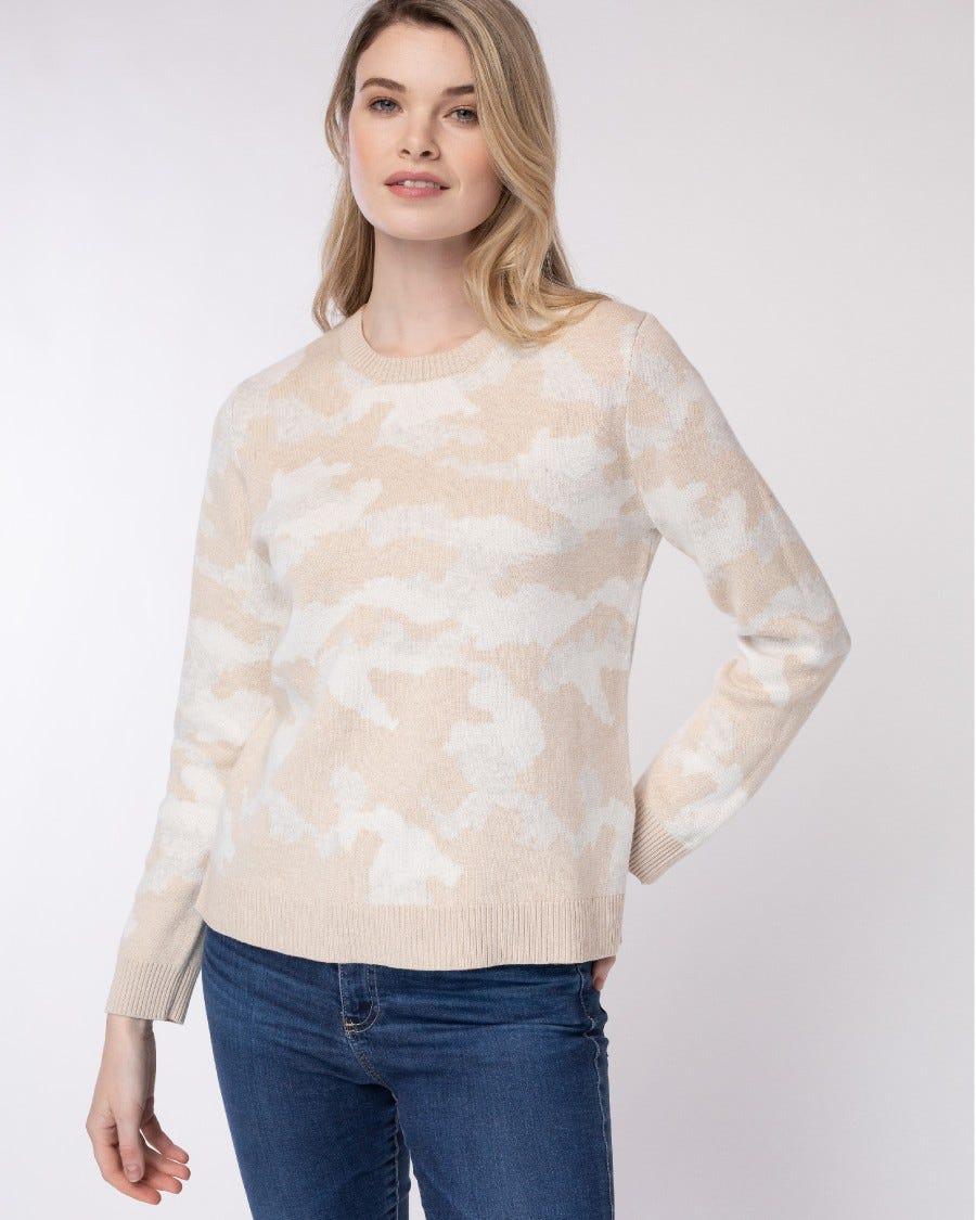 Cotton Cashmere L.A. Camo Pullover