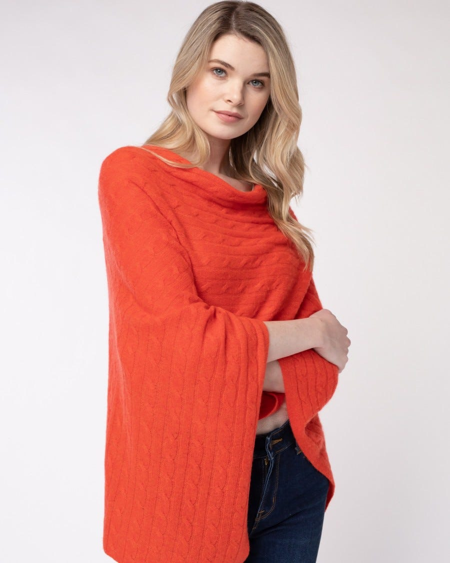Cashmere Cable Dress Topper