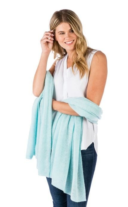 100% Cashmere Breezy Travel Wrap