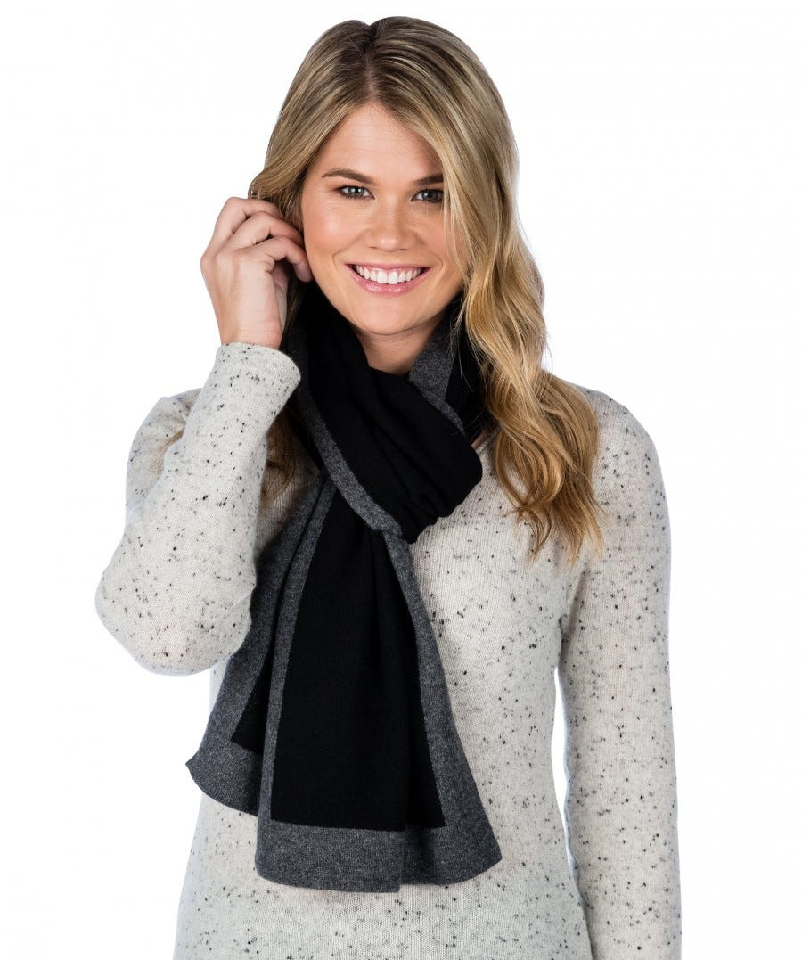 100% Cashmere Picture Frame Scarf
