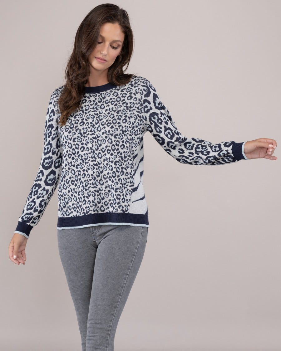 Cotton Nala Mixed Animal Pullover