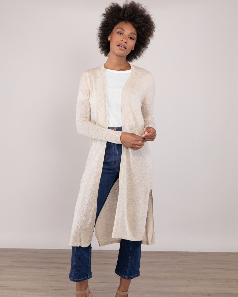 Silk Cashmere Sunset Beach Duster
