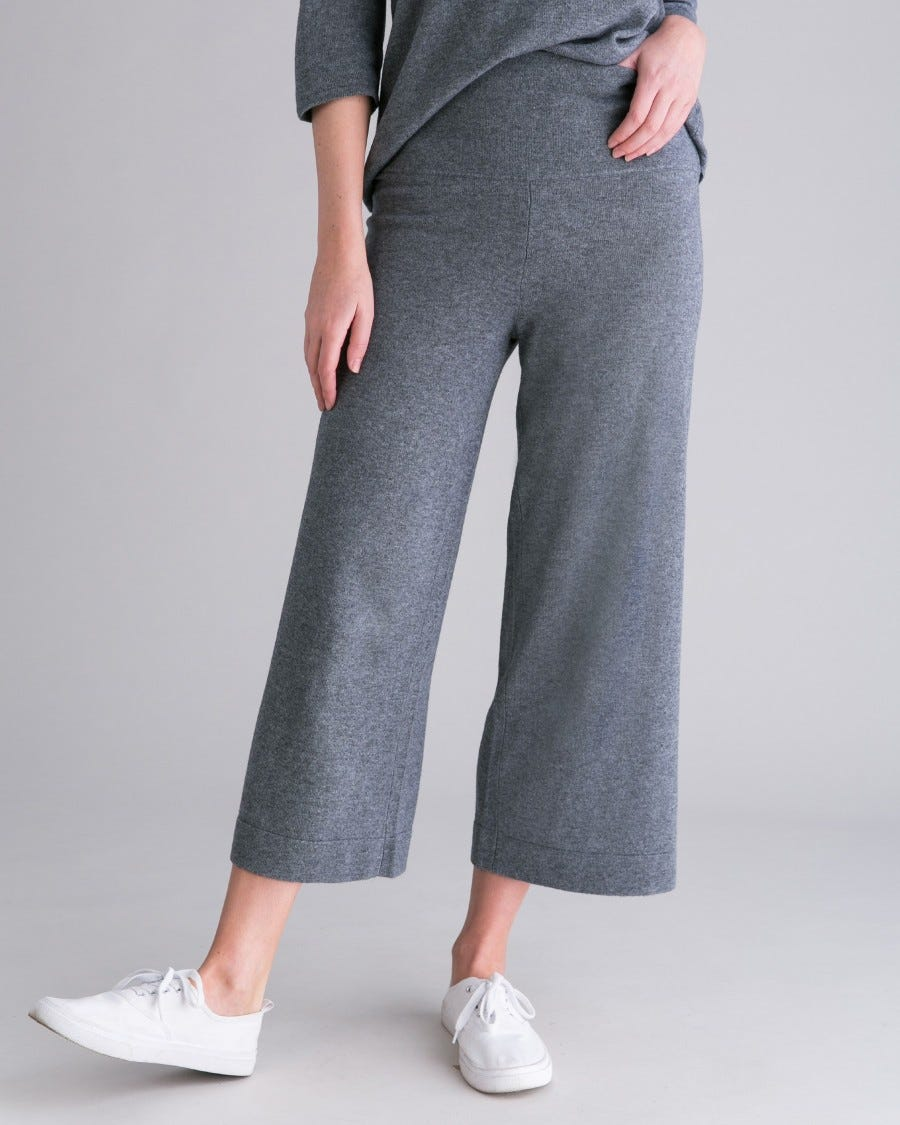 Silk Cashmere Voyager Pull On Culottes