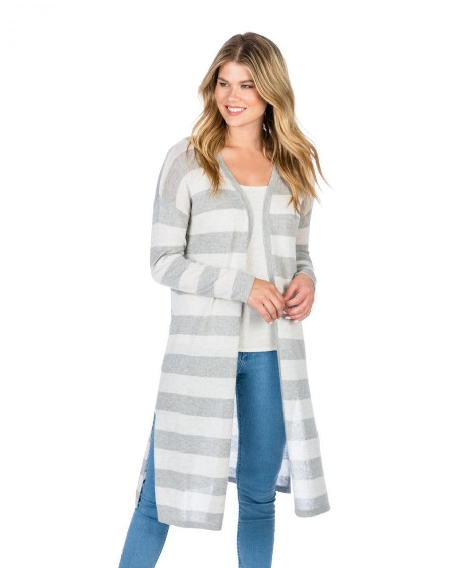 Cotton Cashmere Cool Breeze Banded Duster