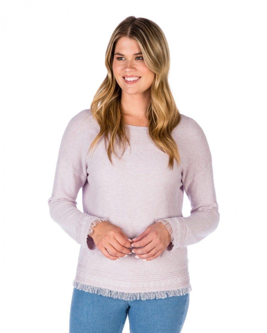 Cotton Cashmere Convertible Texture Pullover Cardi