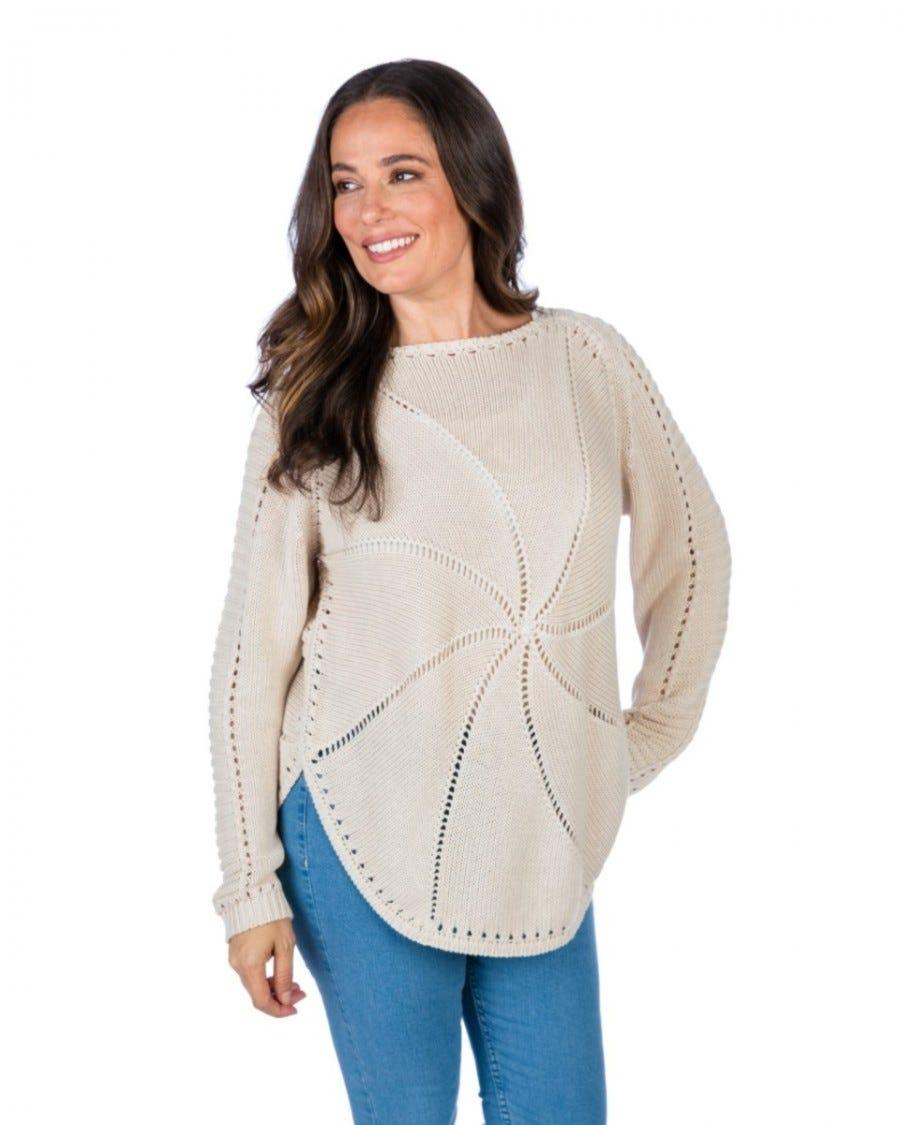 Cotton Cashmere Sand Dollar Pullover
