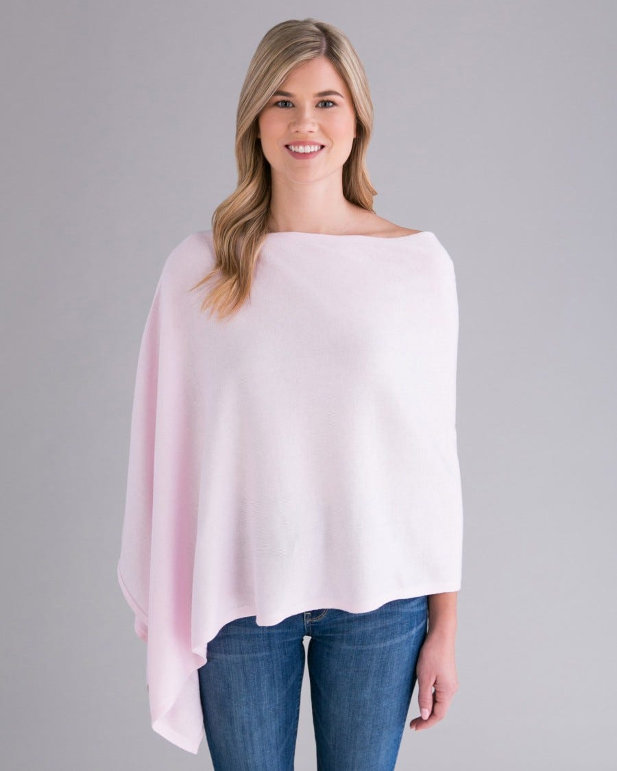 Trade Wind Cashmere Blend Dress Topper Poncho
