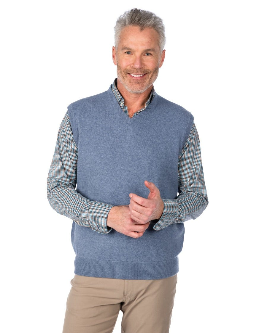 Men's 100% Cashmere Classic V-Neck Vest