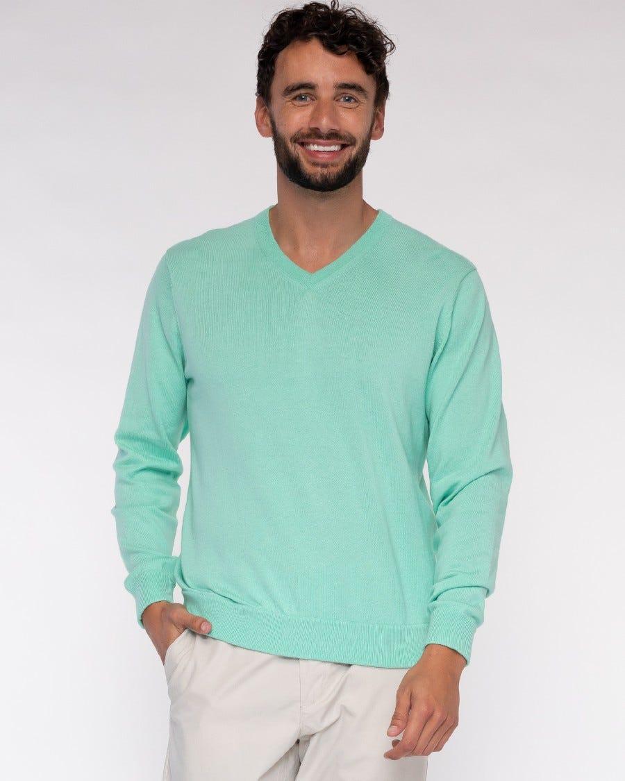 Men's Cotton Cashmere Classic V-Neck Pullover