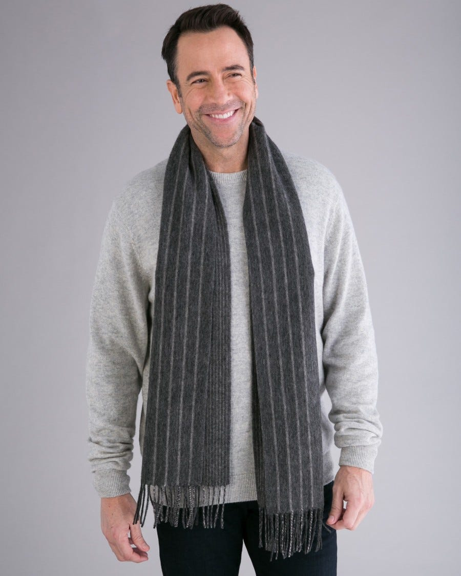 Merino Cambridge Striped Scarf