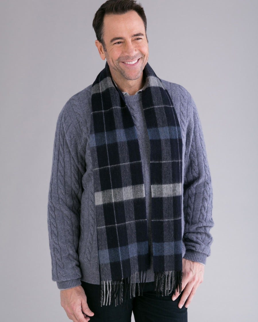 Merino Chicago Plaid Scarf