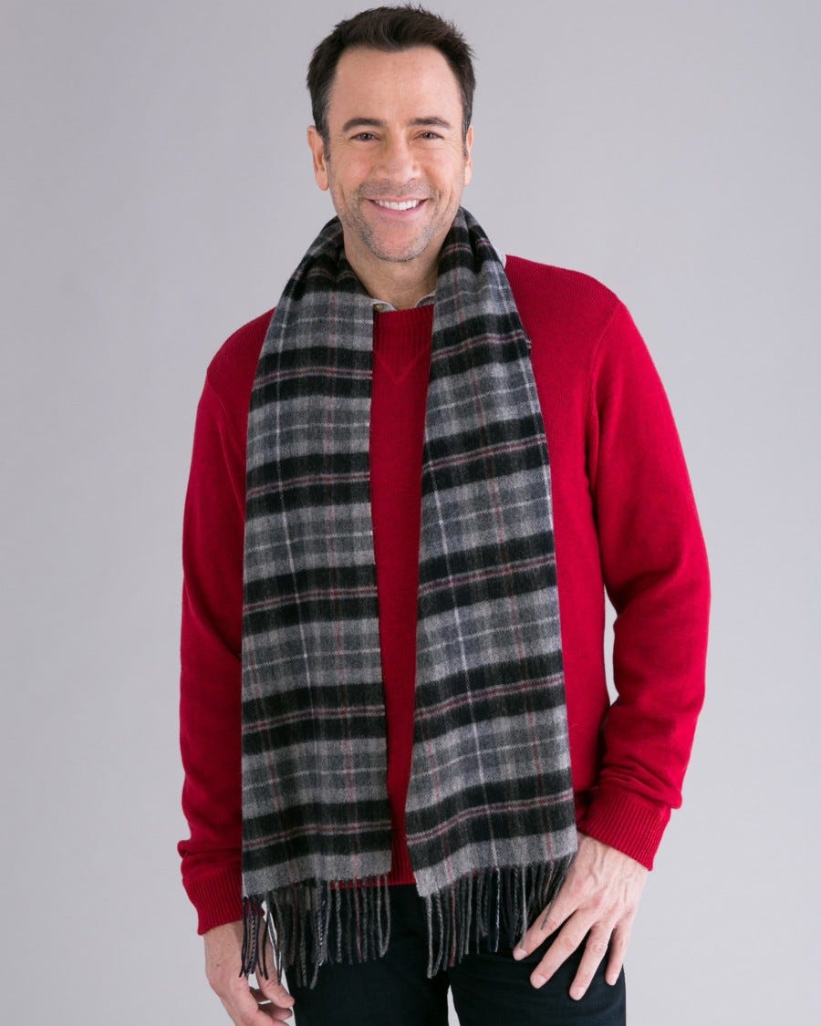 Merino Oxford Plaid Scarf