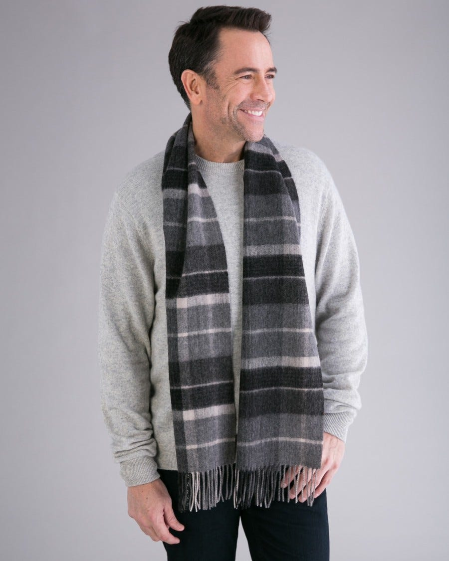 Merino London Plaid Scarf