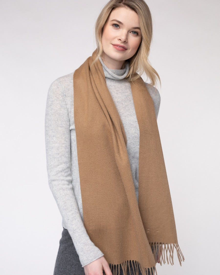 Cashmere Blend Woven Scarf