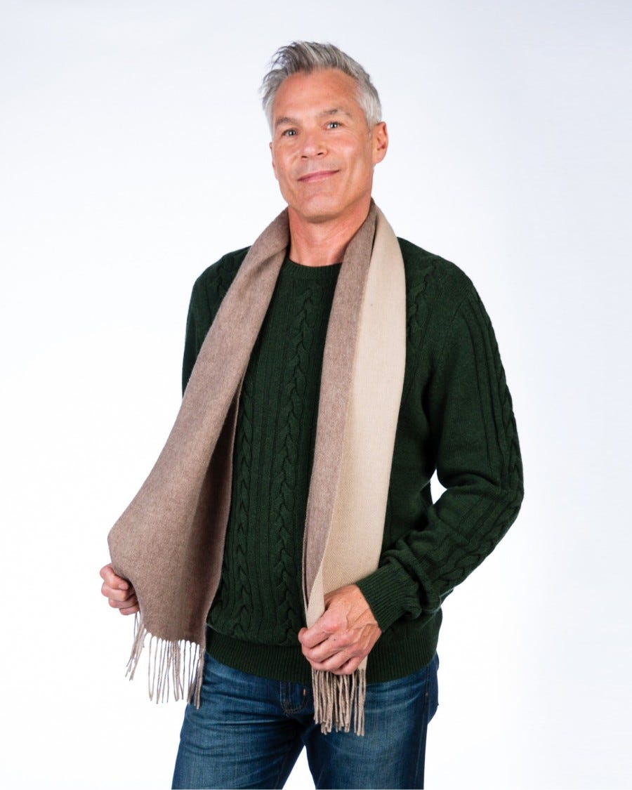 Cashmere Blend Woven Double Faced Scarf
