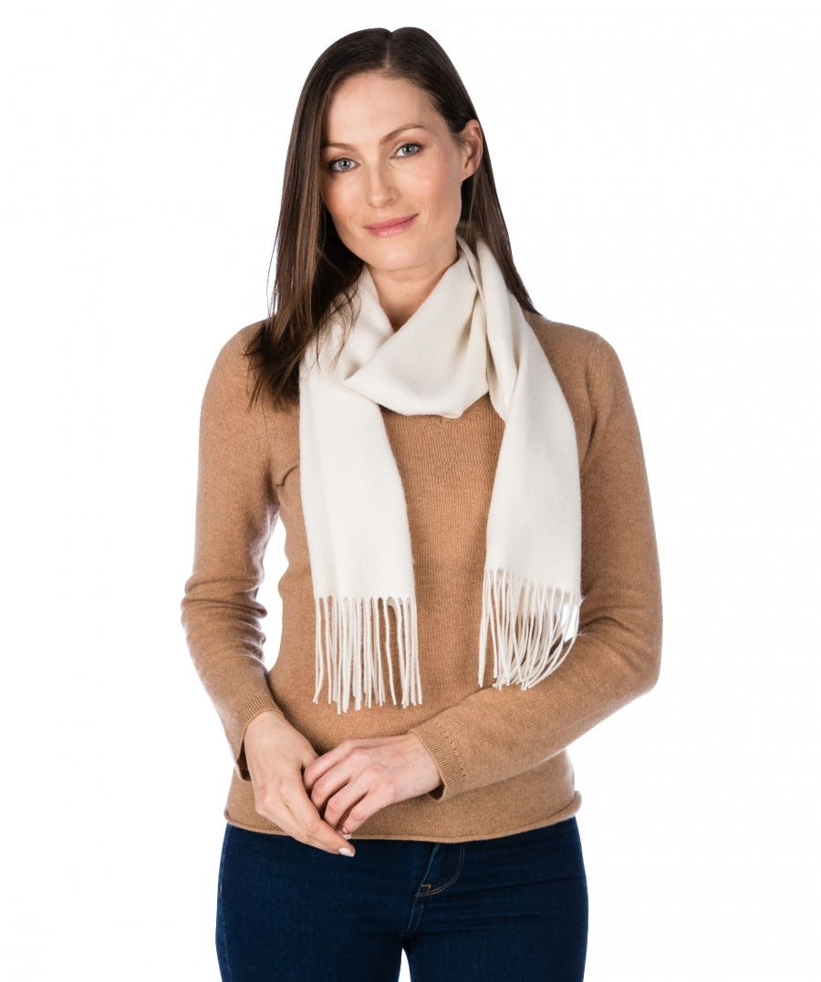 100% Cashmere Woven Scarf