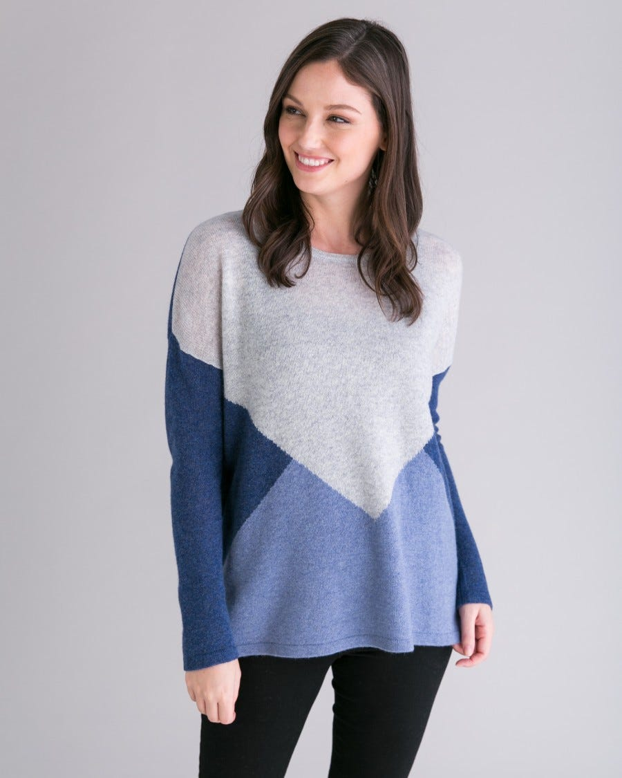 Cashmere Diamond Facet Easy Tunic