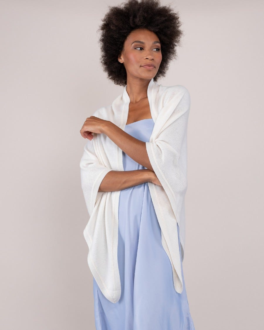 100% Cashmere Luxe Triangle Wrap