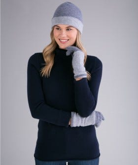 100% Cashmere 3-in-1 Convertible Gloves/Hand Warmer