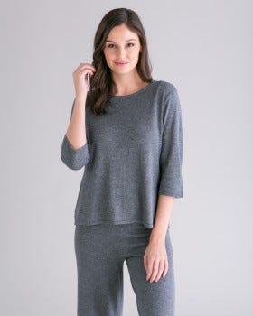 Silk Cashmere Everyday Easy Elbow Tee